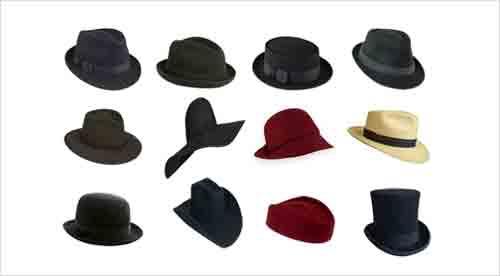 e6186efe486a6 Os diferentes tipos de chapéus